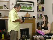 Disobedient teen daughter was spanked by Dad