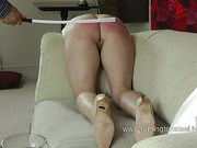 Paddling and caning abuse for mature whore
