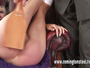 Teacher paddled and humiliated blond schoolgirl