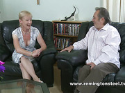 Horny hubby paddled his beloved wife at home