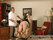 Vulgar mature bitch was punished by Daddy
