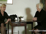 MILF in black nylons got hard spanking from granny