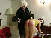 Granny and old dude paddled young brunet bitch