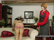 Kinky Asian slut enjoyed lesbo caning