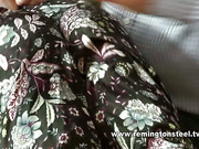 Hot brunette seduced and spanked by oldman