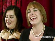 English brunette got spanking from perverted company