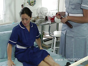 Perverted mature doctor spanked her female patient
