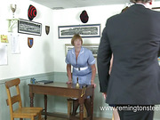 Young slut spanked hard by weird couple