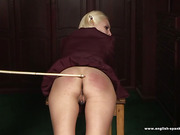 Gorgeous teen blonde caned by perverted oldman