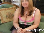 Hard OTK spanking for chubby wife from husband