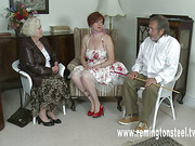 Young slut brutally caned by perverted old couple
