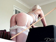 Sexy bride Molly Malone got her ass caned
