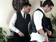 Kinky gay chap begged hard spanking and whipping