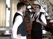 Male client was spanked by gay tailor