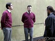 Teacher spanked two teen students in school