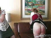Horny fatty spanked by her chubby lesbo lover