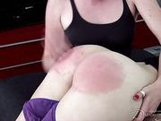 Blond winner girl will spank her contestant
