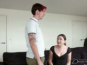 Mistress punished ass of a tattooed dude