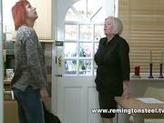 Strict mother spanked slutty redhead MILF