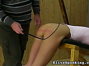 Sexy ass of blonde red after harsh whipping