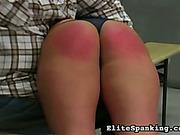Cute schoolgirl got classrom spanking session