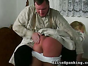 Spanking of young wife for failing house chores