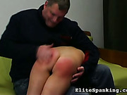 Nude ass of upskirt bitch was spanked well