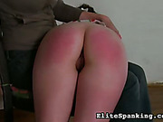 Teen daughter was OTK spanked hard by mom