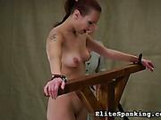Hottie got back lashed by Victorian style mistress