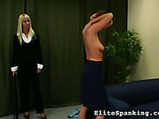 Young girl whipped by headmistres for bright lipstick