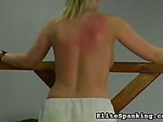 Old style topless mistress whipped slavegirl's back