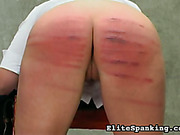 Teen bitch got ass bruised with harsh caning
