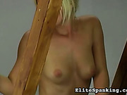 Odstyle MILF whipped body of submissive maid