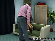 Hard domestic strapping for young bubble butt