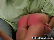 Teen redhead victim suffered from OTK spanking