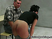 Schoolgirl spanked by headmaster really painfully