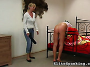 Slutty GF paddled young blonde on bed