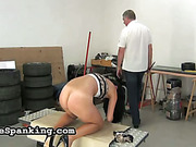 Young brunet bitch got asshole caned by master