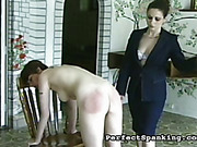 Sub girl got ass bruised by caning mistress