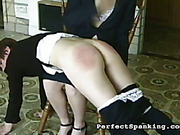 Young female punisher spanked her victim hard