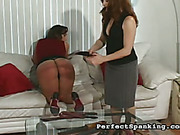 Pussy and ass got harsh lashing from mistress