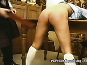 Two naughty chicks got corporal correction spanking