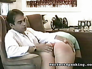 Kinky wife asked her hubby for OTK spanking