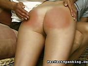 Domestic OTK spanking set with two lesbian perverts