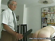 Schoolgirls got sweet asses spanked by principal
