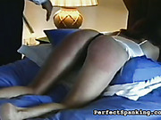 Cruel mom and dad spanked daughter before bed