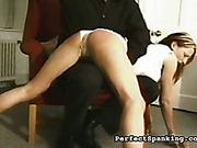 Spankmaster disciplined lazy wife with OTK spanking