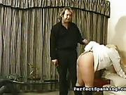 Cruel spankmaster paddled chubby ass bitch