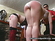 Hands and asses of punk schoolgirls were caned