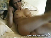 Cheating wife got OTK punishment from blond domme
